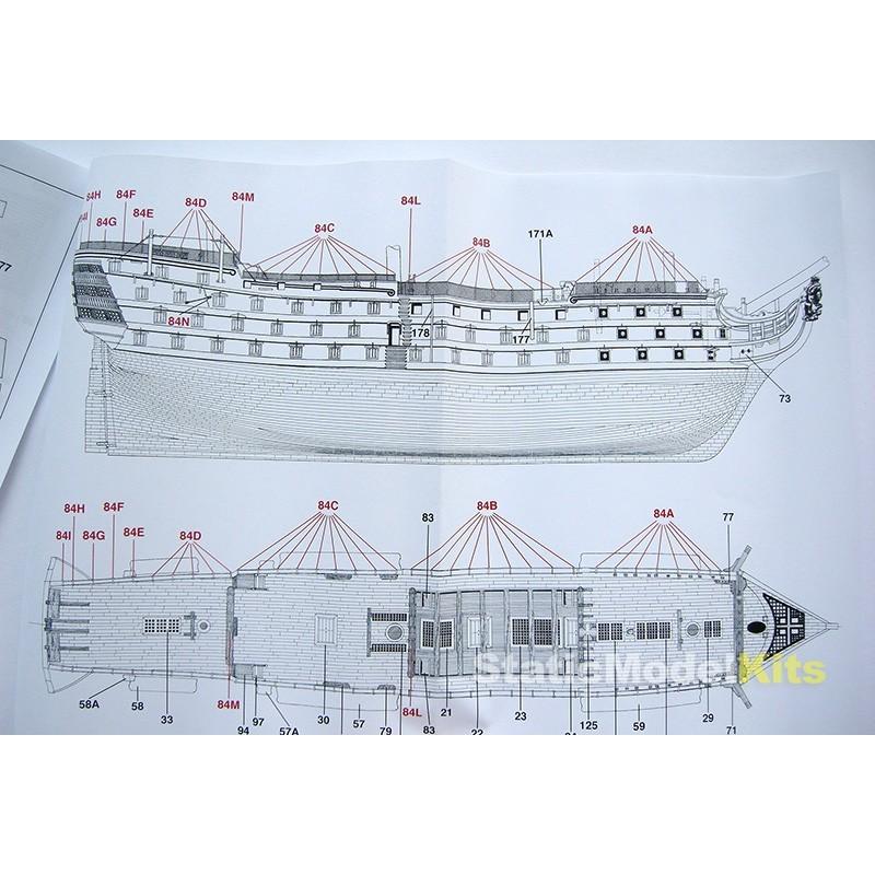 Mantua Hms Victory 1200 Ship Model Kit