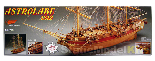 Mantua Astrolabe ship model kit box